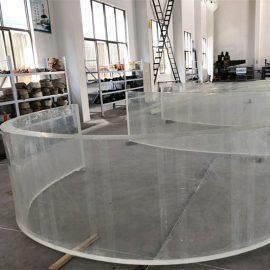 аквариум аквариумдары үшін акрилді қисық пластикалық парақты айна